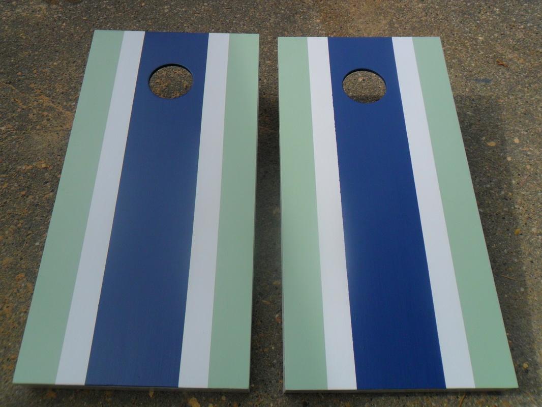 stripe design cornhole bean bag toss board game set