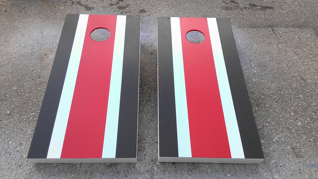 Stripe Cornhole Boards Klock S Woodworking Shop